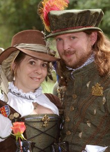MaritaBeth and Kyle at Bristol Renaissance Faire on their 11th Wedding Anniversary
